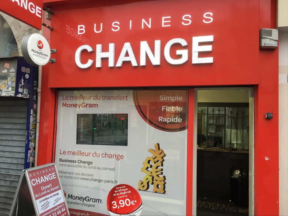 Business change bureau de change